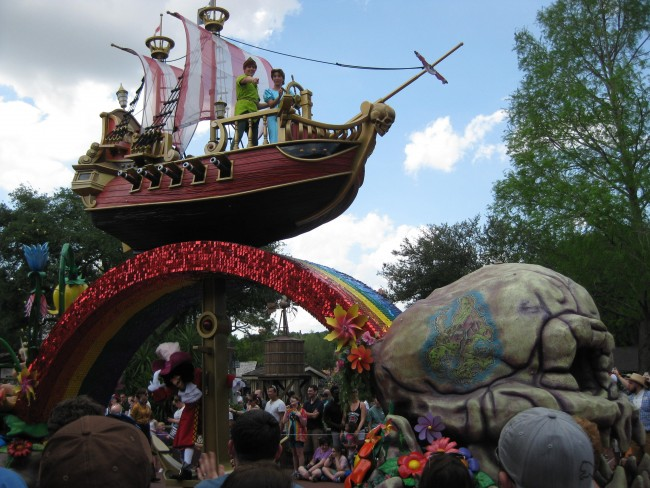 Peter Pan in Disney World parade