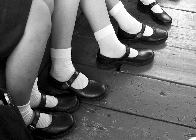 school girl shoes