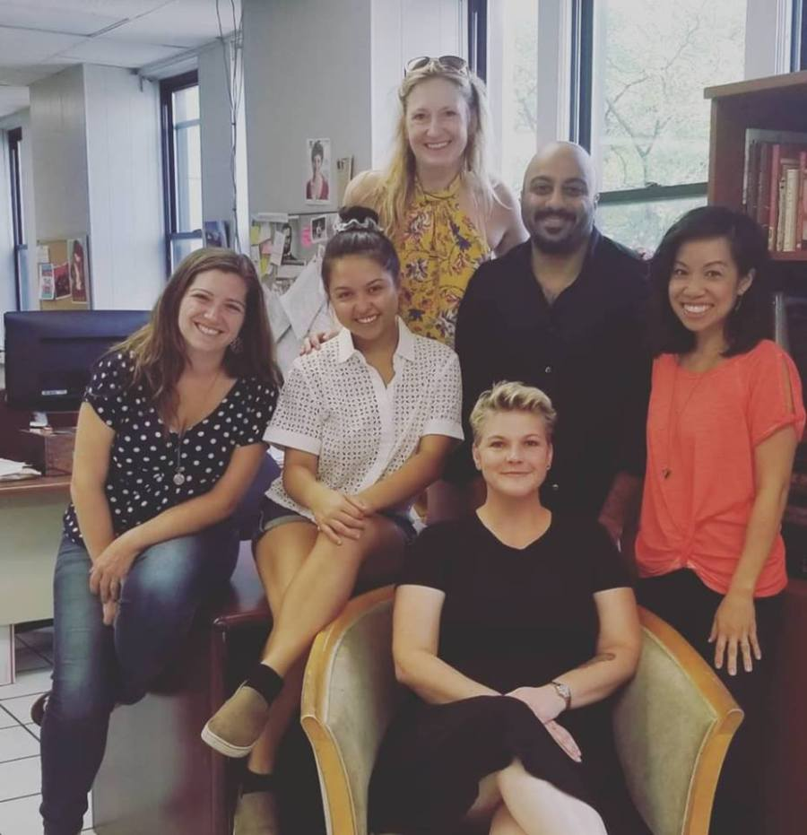 Clockwise from left to right: Jen Poulin (Director) Grace Hutchings (Addison) Me (Proud Playwright) Subhash Thakrar (Ray) Lynette Li (Frances) Michele McAtee (Claudine) Photo courtesy of The Plagiarists